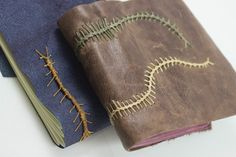 Caterpillar stitch binding