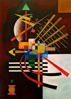 """Wassily Kandinsky, Above and left1925 Oil on cardboard 27.6 × 19.7"""" (70.0 × 50.0 cm)"""
