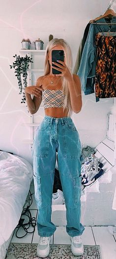 Teen Fashion Outfits, Retro Outfits, Look Fashion, Vintage Outfits, Girl Outfits, 80s Fashion, French Fashion, Hipster Outfits, Fashion Hacks