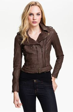 Muubaa Meggie Biker Leather Jacket | Fashion I Love | Pinterest ...