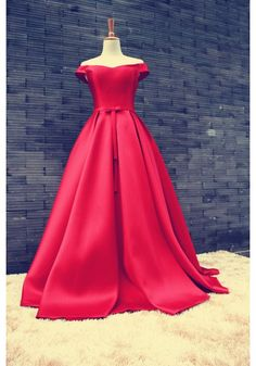 Custom Made Red Off Shoulder Long Prom Gown, Red Prom Dresses, Long Red Formal Dresses Red Formal Dresses, Unique Prom Dresses, Long Prom Gowns, Plus Size Prom Dresses, A Line Prom Dresses, Ball Gowns Prom, Beautiful Prom Dresses, Ball Dresses, Dress Long