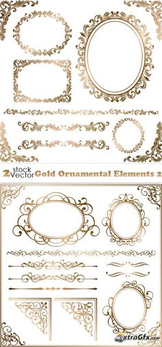 Vectors - Gold Ornamental Elements 2