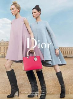 Daria Strokous and Katlin Aas for Dior, 2014.
