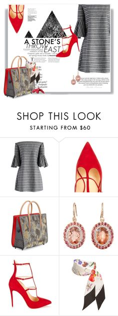 """""""Sexy and Fashion"""" by railda-pereira ❤ liked on Polyvore featuring Chicwish, Christian Louboutin, H&M, Irene Neuwirth, Tangent, Gucci, Elizabeth Arden, red, dress and MyStyle"""