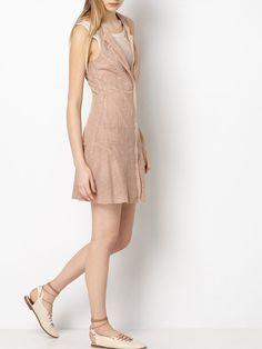 Suede laser cut dress. Intropia SS16