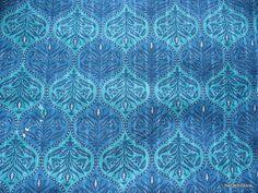 Tela de algodón impresa bloque indio en azul por theDelhiStore, $12.00  thedehlistore.com