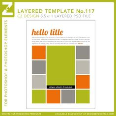 Cathy Zielske's Layered Template No. 117 - Digital Scrapbooking Templates