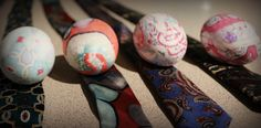 Dying eggs with ties! Check it out. Really great idea for your Easter eggs!