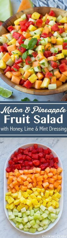 Melon Fruit Salad - the perfect spring and summer fruit salad! Light and perfectly refreshing!