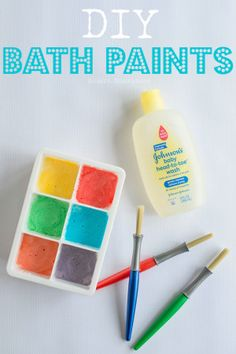 Bath Paints DIY Bath Paints - easy to make paint that your toddlers and kids will love!DIY Bath Paints - easy to make paint that your toddlers and kids will love! Diy Arts And Crafts, Crafts For Teens, Diy For Kids, Kids Crafts, Cork Crafts, Easy Toddler Crafts 2 Year Olds, Crafts With Toddlers, Paper Crafts, Rustic Crafts