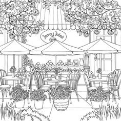 The World of Debbie Macomber: Come Home to Color: An Adult Coloring Book Coloring Book Pages, Printable Coloring Pages, Coloring Sheets, Debbie Macomber, Line Art, Drawings, Illustration, Prints, Check