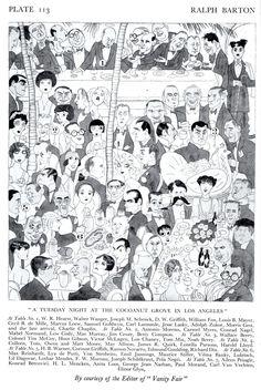 """At The Coconut Grove"" 1928 – Ralph Barton Celebrity Caricatures - Retronaut"