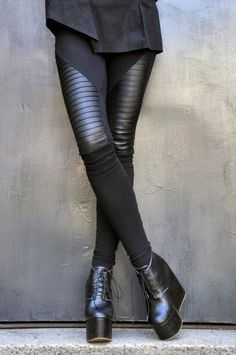 Aakasha, black leather leggings. | Fashion | Pinterest