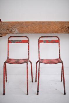 Found Vintage Rentals #chairs #red #vintage #vintagerentals #eventdecor #seating #specialtyrentals