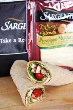 Chicken caprese sandwich wrap