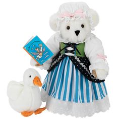 """15"""" Mother Goose Bear with Goose from Vermont Teddy Bear. $99.99. #MothersDay"""