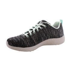 Skechers - Women's New Influence Sneakers - Black/Mint Sketchers, Mint, Sneakers, Shoes, Black, Fashion, Tennis, Moda, Slippers