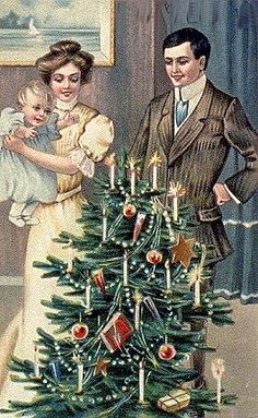 A Victorian Christmas....my Daddy said this is how they had lights on the tree when he was little, and only on Christmas day...would have been in the early 20s...