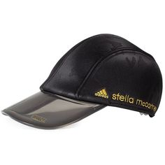 Adidas by Stella Mccartney  Printed Run Cap (57 AUD) ❤ liked on Polyvore featuring accessories, hats, nero, camo hats, sun visor cap, sun visor hat, adidas hats and cap hats