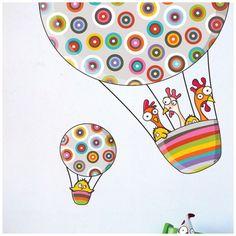 Ludo Around the World Wall Decal Balloon Rides, Air Balloon, Balloons, Baby Wall Decals, Wall Stickers, Art Wall Kids, Wall Art, White Vinyl, Cool Walls