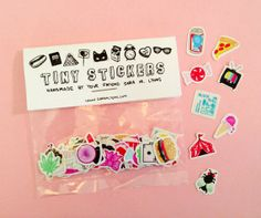 tiny sticker pack  COLOR by saramlyons on Etsy, $8.00