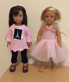 "Special order for Dawn N:  mini doll clothes with a ""Paris flair"""