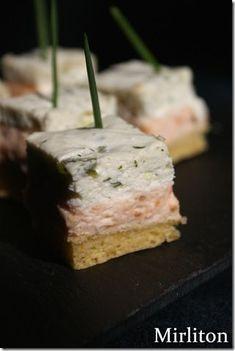 Carrés au saumon et tzatziki pour l'apéritif