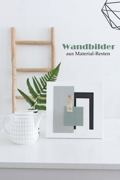 Recyclingbasteln: Moderne Wandbilder aus Material - Resten auf Keilrahmen gestalten