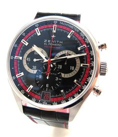 Zenith El Primero 36000 Red Limited Edition Ax Watches, Top Watches For Men, Dream Watches, Fine Watches, Luxury Watches, Cool Watches, Superfly, Consumerism, Beautiful Watches