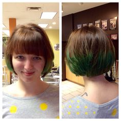 how fun is this?! we're loving the green locks created by lacey at our nippers corner location!