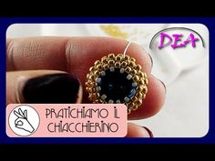 Tutorial incastonatura rivoli 14mm con rocailles e swarovski - YouTube