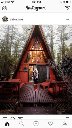 Stay: Big Bear California - A Frame Cabin - Lovely and Limitless - Red A-Frame Cabin – Red Hunter Boots Outfit – Big Bear Rental California - Tiny House Cabin, Tiny House Design, Cabin Homes, Log Homes, My House, A Frame Cabin, A Frame House, Big Bear California, Cabins And Cottages