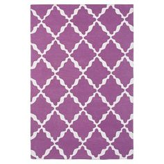 Lattice Rug, Mauve #pbteen. Just ordered for my craft room!
