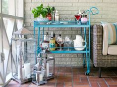 Hanging on to a piece of rusty or chipped metal furniture? Give it a fresh, colorful update with these simple steps.