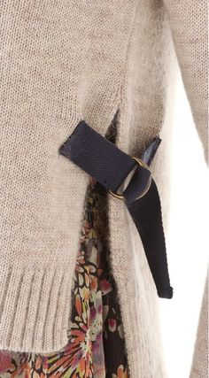 Details use on old men's shirts to cinch waist