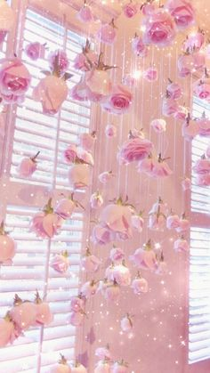Pink Home Decor - Everything Pink - Flower Wallpaper Pastel, Aesthetic Pastel Wallpaper, Aesthetic Wallpapers, Wallpaper Plants, Wallpaper Ideas, Trendy Wallpaper, Pink Glitter Wallpaper, Baby Girl Wallpaper, Fairy Wallpaper