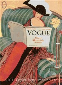 Vogue Magazine Cover - March 15, 1912 Cross Stitch Pattern