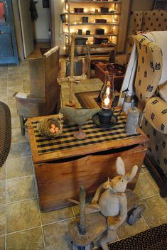 Primitive Living Room by A Storybook Life