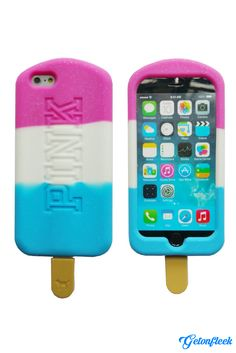 PINK Popsicle 3D iPhone Case [iPhone 5, 5s, 6, 6 Plus] - Shop our entire collection and get all the flavors at www.getonfleek.com