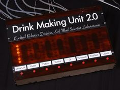 BarBot is a celebration of cocktail culture and man-machine interface. Get a drink from an actual robot.