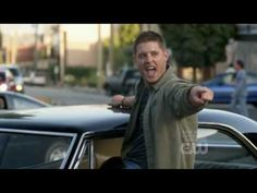"""Supernatural, Dean Winchester dance """"Eye of the Tiger"""" - I don't know why the rest of the video is just blank though"""