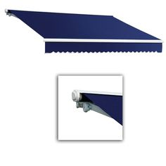 AWNTECH 12 ft. Galveston Semi-Cassette Manual Retractable Awning (120 in. Projection) in
