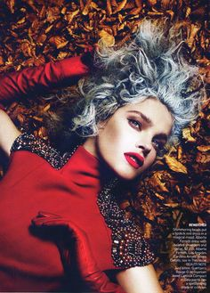 Into the Woods | Natalia Vodianova as Little Red Riding Hood | Photo by Mert & Marcus for Vogue, September 2009