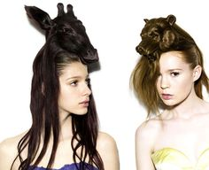 Styling your hair into ossicones? The other model can bear-ly contain herself.