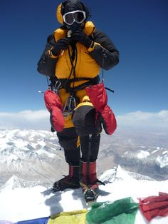 standing on summit of Mt. Everest Dale Wagner