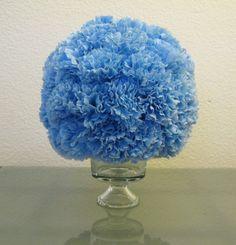 Blue Carnations Blue Wedding Flower Arrangements, Blue Wedding Flowers, Flower Bouquet Wedding, Floral Arrangements, Light Blue Flowers, Pretty Flowers, Carnation Centerpieces, Purple Carnations, Same Day Flower Delivery