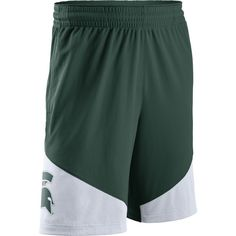 7e2d07b7be37 Nike Men s Michigan State Spartans Green White New Classics ELITE  Basketball Shorts