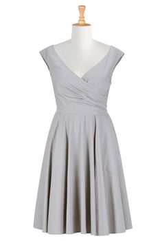 Clothing Womens , Dress Plus Sizes Shop women's designer fashion - Little Black Dress - Day-to-Evening Dresses - Day Dresses -   eShakti.com