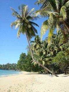 Beautiful Ao Tapao Beach in front of Koh Kood Cabana, Thailand