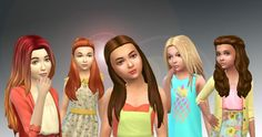 5 Girls Long Hairs Pack 2 at My Stuff via Sims 4 Updates